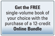 Get a Free Single Volume Book with a 12-Credit Online Bundle