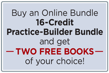 Buy a 16-Credit Online Bundle and get two free books of your choice.