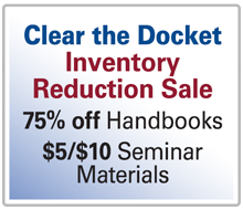 Clear The Docket Sale