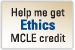 Help Me Get Ethics CLE Credit